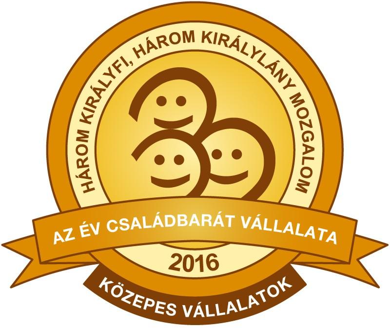 Családbarát Vállalat Díj - Gyöngyösi Oktatásért és Kultúráért Alapítvány